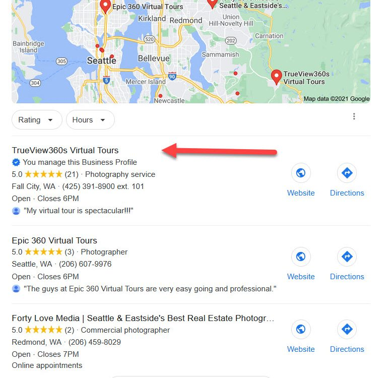First page ranking with Google's Local Pack